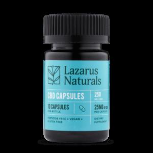 Lazarus Naturals CBD capsules 25mg 10ct Anytime