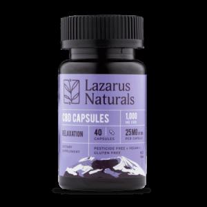Lazarus Naturals CBD capsules 25mg 10ct Relaxation