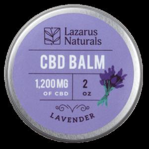 Lazarus Naturals CBD salve balm 1200mg Lavender