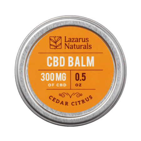 Lazarus Naturals CBD salve balm 300mg Cedar citrus